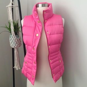Lilly Pulitzer Bright Pink Puffer Vest XXS